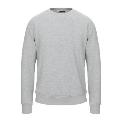 プラスピープル (+) PEOPLE スウェットシャツ ライトグレー M コットン 100% スウェットシャツ