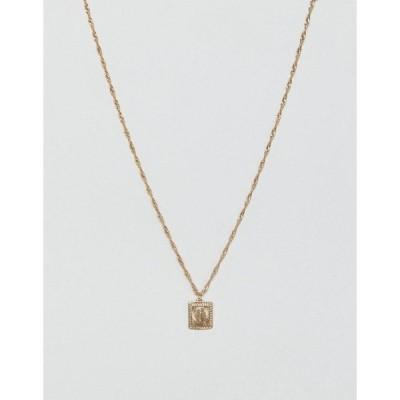 エイソス メンズ ネックレス・チョーカー アクセサリー ASOS DESIGN neckchain with sovereign medallion in gold tone Gold