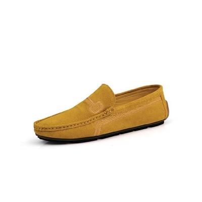 8色お揃い ドライビングシューズ メンズ スリッポン スエード カジュアル 黒 軽量  歩きやすい 刺繍 28cm 大きいサイズ モカシン 紳士靴