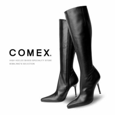 COMEXロングブーツハイヒールストレッチブラックコメックス レディース 靴 (5116)送料無料