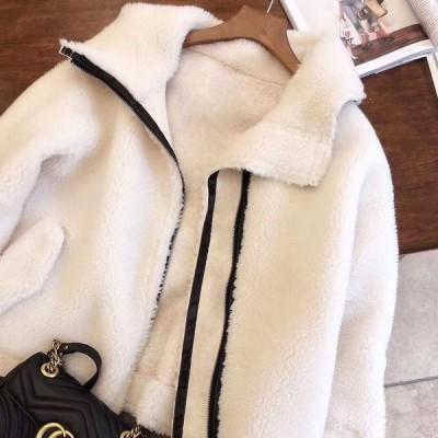 フリースジャケット 無地 ゆったり 大人可愛い カジュアル フェミニン こなれ感 冬春 お出かけ デート 女子会