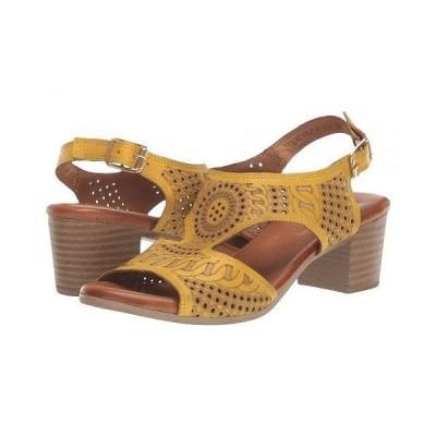 Spring Step スプリングステップ レディース 女性用 シューズ 靴 ヒール Chains - Yellow