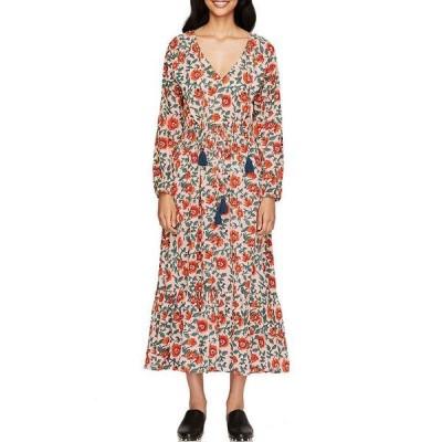 ローラー・ラビット レディース ワンピース トップス V-Neck Tie Waist Floral Rosetone Olaya Dress Beige