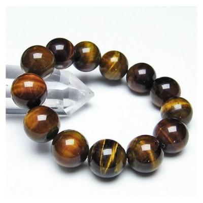 タイガーアイ  ブレスレット 数珠  17mm  パワーストーン 天然石 t30-14092