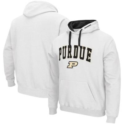 """メンズ パーカー """"Purdue Boilermakers"""" Colosseum Arch - Logo 2.0 Pullover Hoodie - White"""