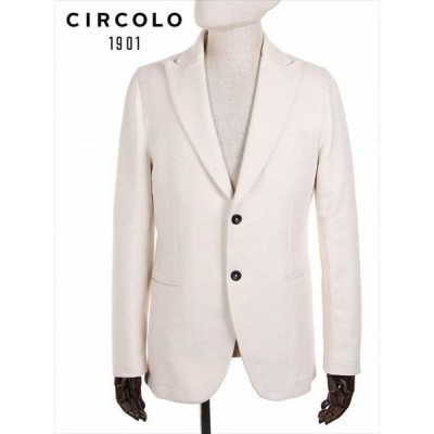 CIRCOLO1901 2Bシングル テーラードジャケット ジャージー ホワイト 9CU201001 国内正規品