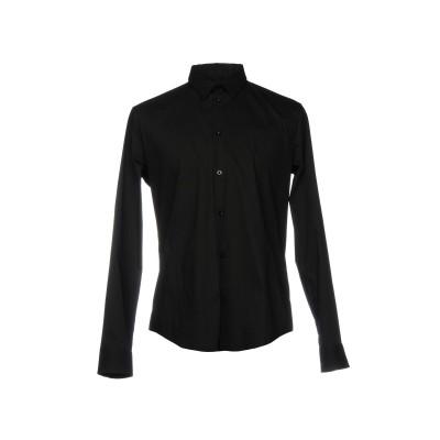 アルマーニ ジーンズ ARMANI JEANS シャツ ブラック L 76% コットン 21% ナイロン 3% ポリウレタン シャツ