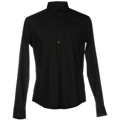 アルマーニ ジーンズ ARMANI JEANS シャツ ブラック S 76% コットン 21% ナイロン 3% ポリウレタン シャツ