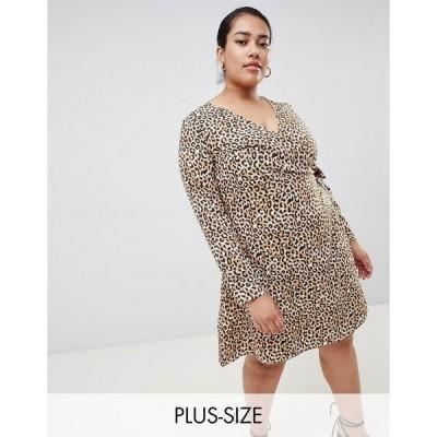 ジュナローズ レディース ワンピース トップス Junarose animal print mini wrap dress Multi