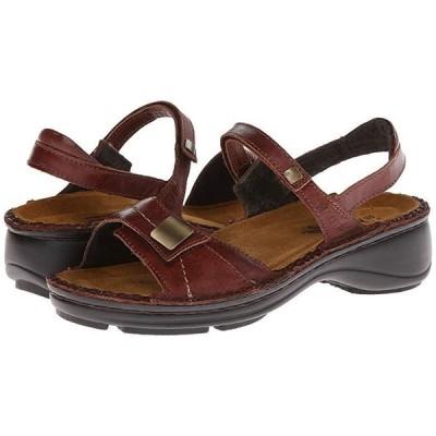 Naot Papaya レディース サンダル Luggage Brown Leather