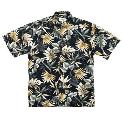 CAMPIA オールド コットン ハワイアン アロハシャツ ブラック サイズ表記:M
