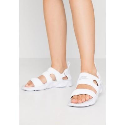 ナイキ サンダル レディース シューズ OWAYSIS - Sandals - white/pure platinum