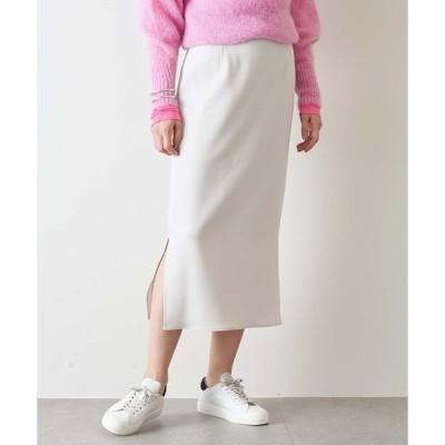 スカート ダブルクロスサイドスリットタイトスカート