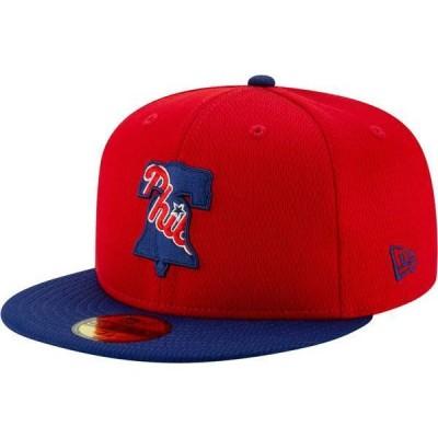 ニューエラ メンズ 帽子 アクセサリー New Era Men's Philadelphia Phillies 59Fifty Red Batting Practice Fitted Hat