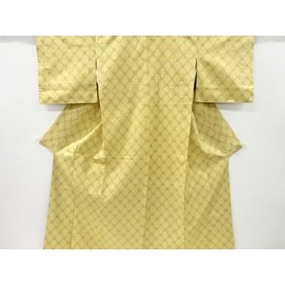宗sou 絣柄織り出し手織り真綿紬着物【リサイクル】【着】