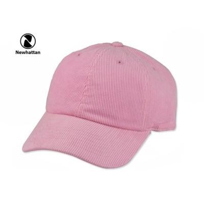 ☆NEWHATTAN【ニューハッタン】CORDUROY CAP LIGHT PINK コーディロイ キャップ ライトピンク 15164