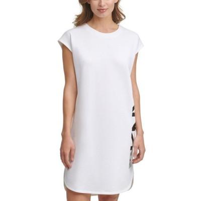ダナ キャラン ニューヨーク レディース ワンピース トップス Logo-Graphic T-Shirt Dress