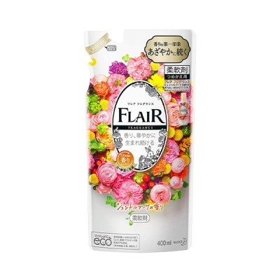 花王 フレア フレグランス ジェントルブーケ の香り[つめかえ用] 400ml×15個 / 柔軟剤 / 12時間続く香りセンサー / 静電気を防ぐ / 抗菌防臭効果