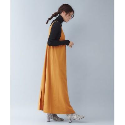 qualite/カリテ ウールギャバ2WAYワンピース オレンジ 38