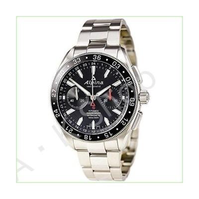 Alpina 4 Chronograph Automatic Black Dial Steel Mens Watch AL-860B5AQ6B【並行輸入品】