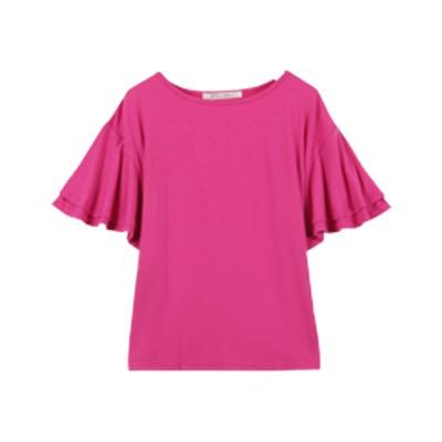 コウベレタス KOBE LETTUCE 落ち感がキレイなゆるシルエTシャツ 【フレア袖】(ピンク)