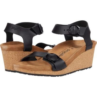 ビルケンシュトック Birkenstock レディース サンダル・ミュール シューズ・靴 Soley by Papillio Black Leather 2
