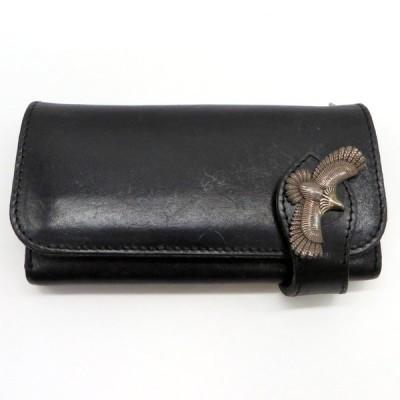 アルズニ ロングウォレット 財布 レザーウォレット 革 小銭入れあり メンズ  ブラック ALZUNI 服飾 W3844-D☆