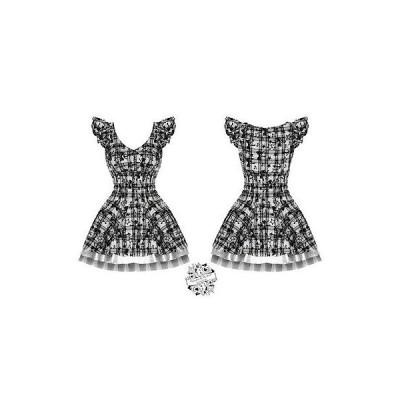 ハーツアンドローズロンドン ドレス ワンピース レディース New ハートs ローズs London ホワイト Tartan タトゥー Punk Emo Prom パーティ ドレス U