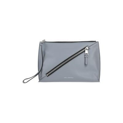カールラガーフェルド KARL LAGERFELD ハンドバッグ グレー 羊革(ラムスキン) 100% ハンドバッグ