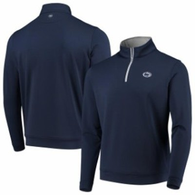 Peter Millar ピーター ミラー スポーツ用品  Peter Millar Penn State Nittany Lions Navy Perth Solid Stretch Quarter-Zip Pullover J