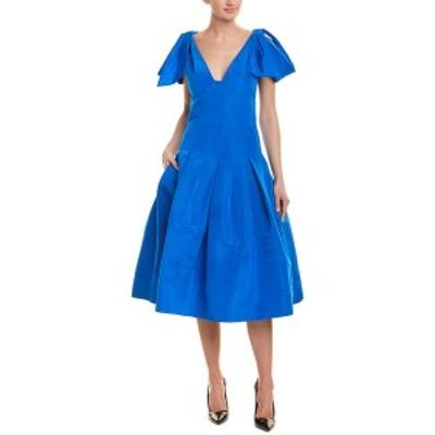 オスカー デ ラ レンタ レディース ワンピース トップス Oscar de la Renta Silk A-Line Dress atlantic