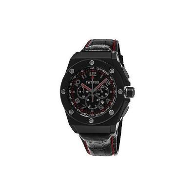 腕時計 ティダブルスティール TW スチール CEO Tech ブラック ダイヤル メンズ 腕時計 CE4008