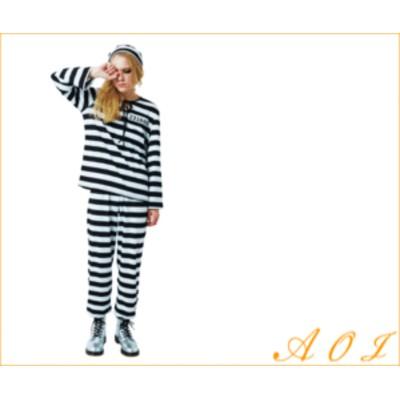 フォンデットスーツ【女性】【ladies】ゆったりサイズでパジャマのように着心地のよい囚人コスチューム☆当店のコスプレシリ