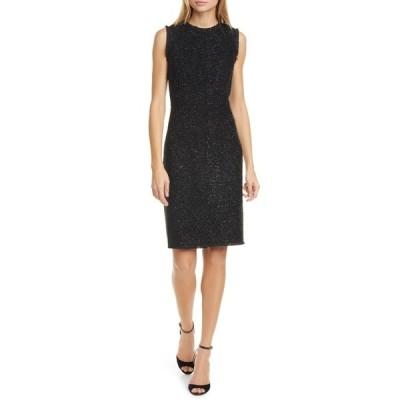 ケイト スペード レディース ワンピース トップス Tinsel Tweed Sleeveless Dress BLACK