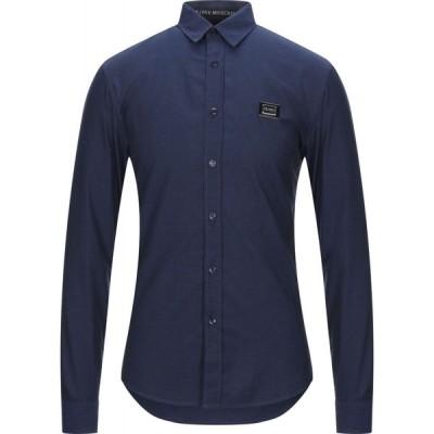 モスキーノ LOVE MOSCHINO メンズ シャツ トップス solid color shirt Dark blue