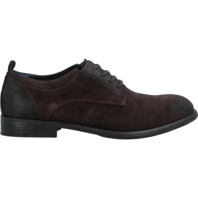 ミノロンゾーニ MINORONZONI メンズ 革靴・ビジネスシューズ シューズ・靴 Laced Shoes Dark brown