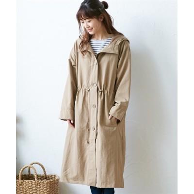 【20春】軽。薄。柔 ソフトロングモッズコート (コート)(レディース)Coat