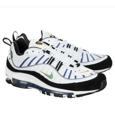 """ナイキ NIKE エアマックス 98 PRM Premium """"Teal Nebula"""" Running Shoes メンズ BV0989-102 ランニング スニーカー カジュアル White Black Blue Yellow"""
