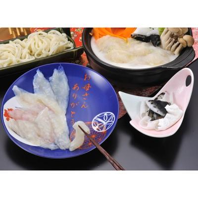 【母の日】福岡「ふく太郎」ふぐちり美人鍋 陶器皿盛 母美陶 惣菜