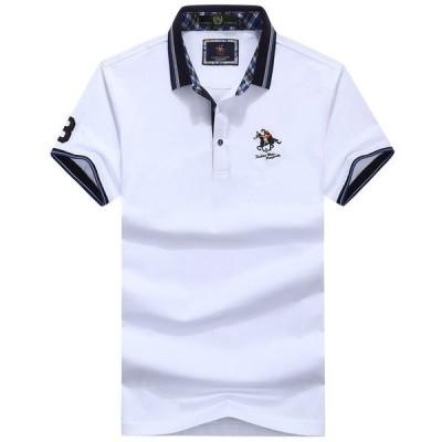 メンズ ポロシャツ 半袖 トップス カットソー 大きいサイズ ファッション 2020 春 夏 ゴルフウェア ゴルフシャツ おしゃれ