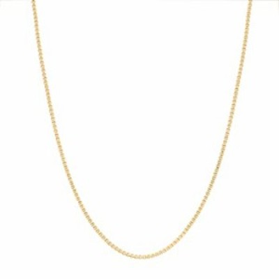 STEEL EVOLUTION Yellow Gold IP Plated Stainless Steel 2mm 20 Inch Mens Box Chain Necklace