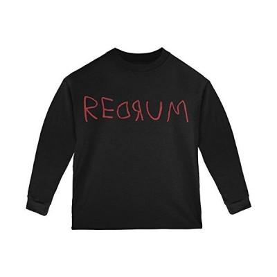 Old Glory Halloween Horror Redrum Toddler Long Sleeve T Shirt Black Toddler Size 5/6