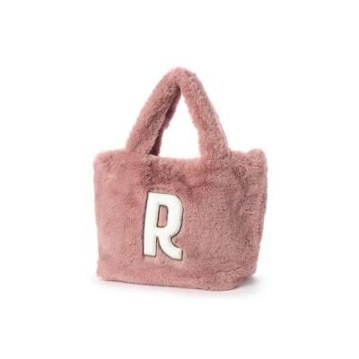 ヒッチハイクマーケット HITCH HIKE MARKET イニシャルファートートバッグ(R S) (ピンク)