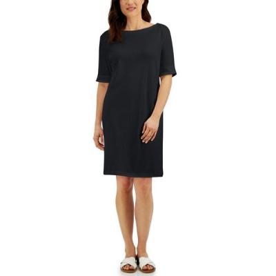 ケレンスコット レディース ワンピース トップス Cotton Cuffed-Sleeve Dress