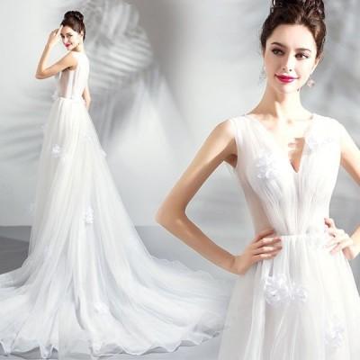 ウェディングドレス・結婚式・二次会ドレス・花嫁ドレス・パーティードレス・トレーン・トレーンドレス・マーメイド・二次会・花嫁・ドレス・レース・ホワイト