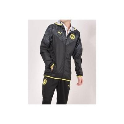 プーマ PUMA メンズ サッカー/フットサル フルジップ BVB ウォームアップ ジャケット 758585 (ブラック)