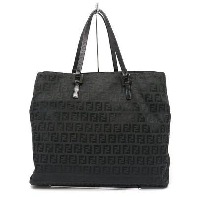 【送料無料】フェンディ FENDI トートバッグ ズッカ キャンバス ブラック B5サイズ対応【1H2900】【値下げしました】