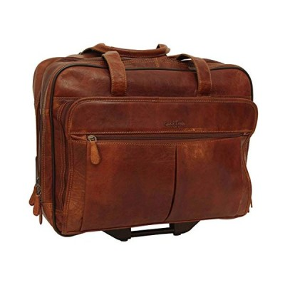Gusti 2R21-20-2 Leather Studio Duncan Leather Suitcase Wheeled Suitcase Trolley Suitcase with Brown Buffalo Leather 並行輸入品