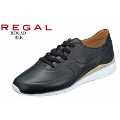 REGAL (リーガル)BE81AD レザーカジュアルスニーカー 本革 ラストとソールまわりをスッキリと仕立てた上品なスニーカー レディス