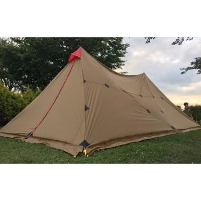 タープテント 3fULギア 8-12人 屋外キャンプテント 大型タープ サンシェルター 7*4メートル Aタワー ベースキャンプテント